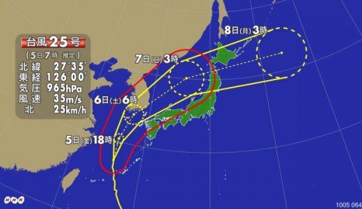 沖縄の停電の復旧はいつ?断水やガスに影響は?台風25号の被害状況まとめ!