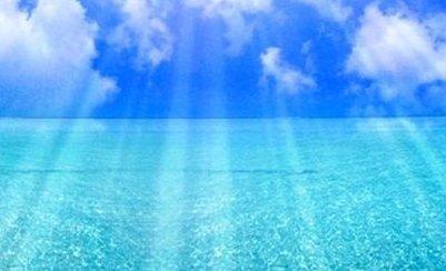 海の色 水色