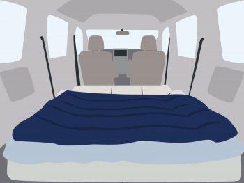 車中泊 冬 暖房 寝袋 布団