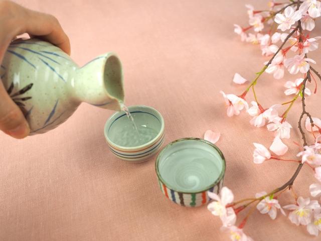 花見 日本酒 熱燗